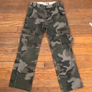 Old navy boys camo cargo pants adjustable waist